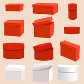 Set of empty boxes — Stock Vector