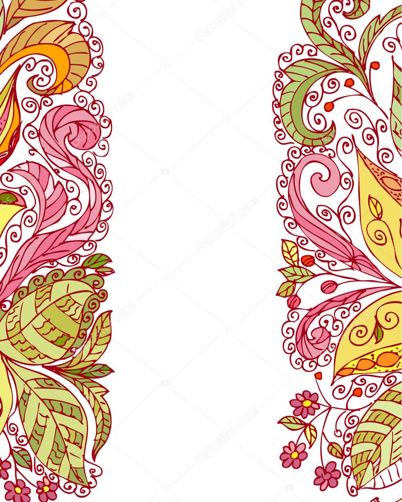 Summer abstract floral pattern  Stock Vector #4321226