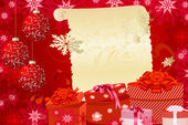 Christmas background with gifts — Stock Vector