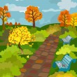 Autumn Park — Vector de stock #4539540