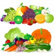 Vector de stock : Fruit and Vegetables