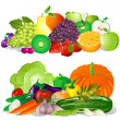 Fruit and Vegetables — Vector de stock