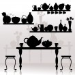 Dining room — Vector de stock #4539574