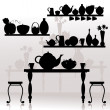 Royalty-Free Stock Vector Image: Dining room