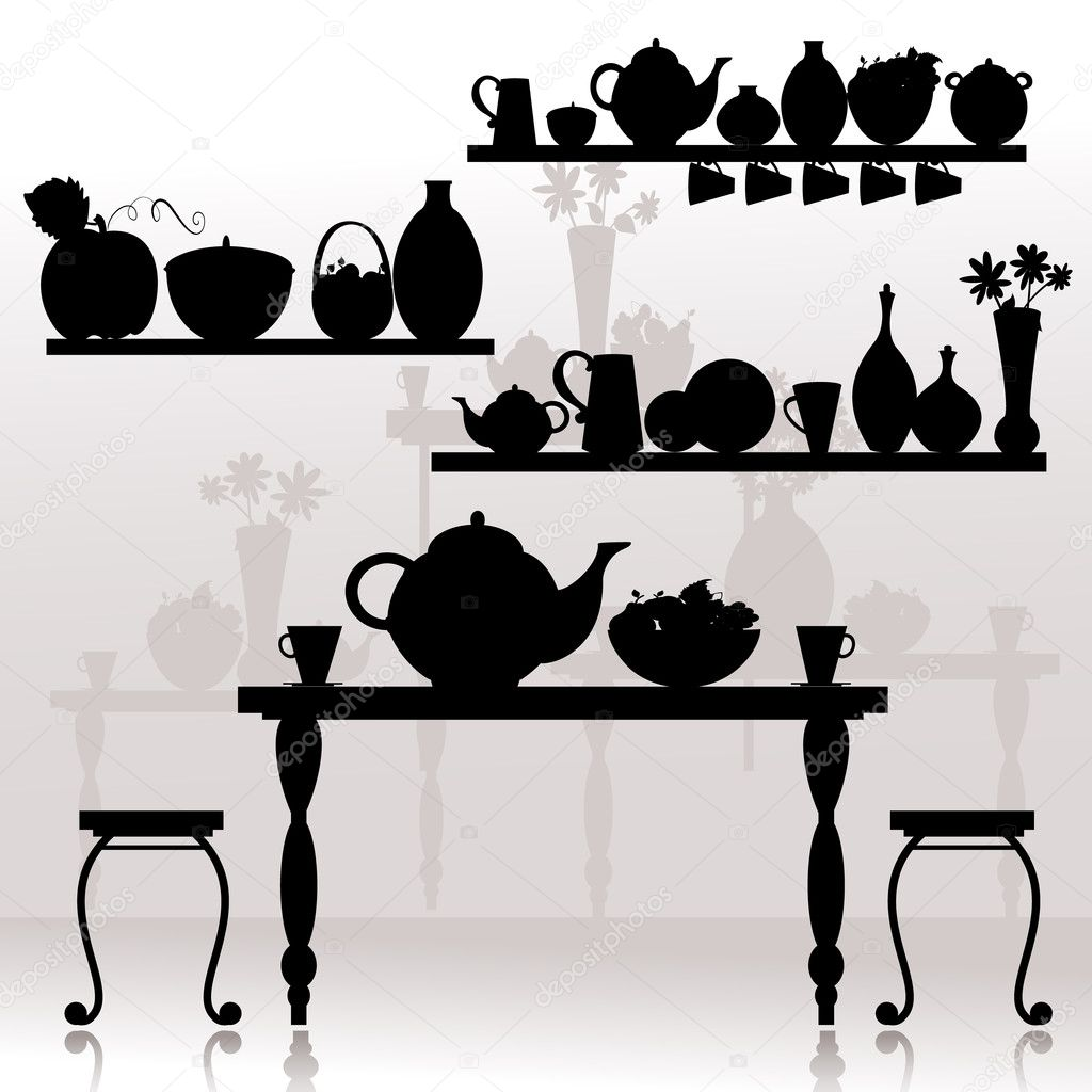 Dining room — Stock Vector #4539574