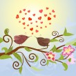 Bird love - Stock Vector