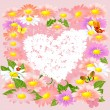 Royalty-Free Stock Vector Image: Romantic floral valentine