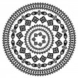 Oriental arabesque pattern round — Stockvectorbeeld