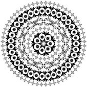 Abstrait motif circulaire d'arabesques — Vecteur
