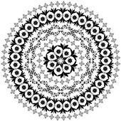 抽象圆形图案的蔓藤花纹 — 图库矢量图片
