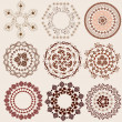 图库矢量图片: Arabesque pattern set