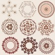 Vecteur: Arabesque pattern set