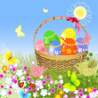 Easter basket — Stock Vector #5035443