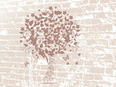 Grunge tree design — Stock Vector