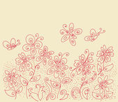 Flower clearing pattern — Stockvector