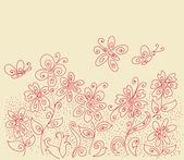 クリアの花のパターン — ストックベクタ