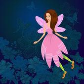 Fairy Firefly — Stock Vector