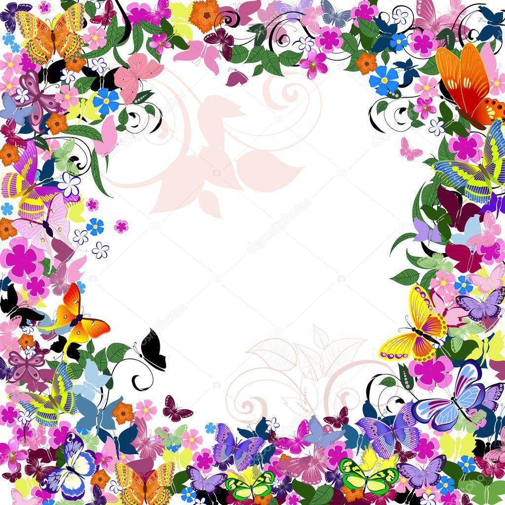 Цветочная рамка - Фиалки