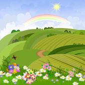 Våren landskap — Stockvektor