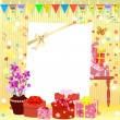 Stock Vector: Birthday invitation