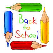 School background — Vettoriale Stock