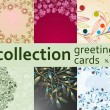 Collection greeting cards — Stock Vector #4549131