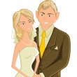 Wedding, vector illustration — Stock Vector #4726249