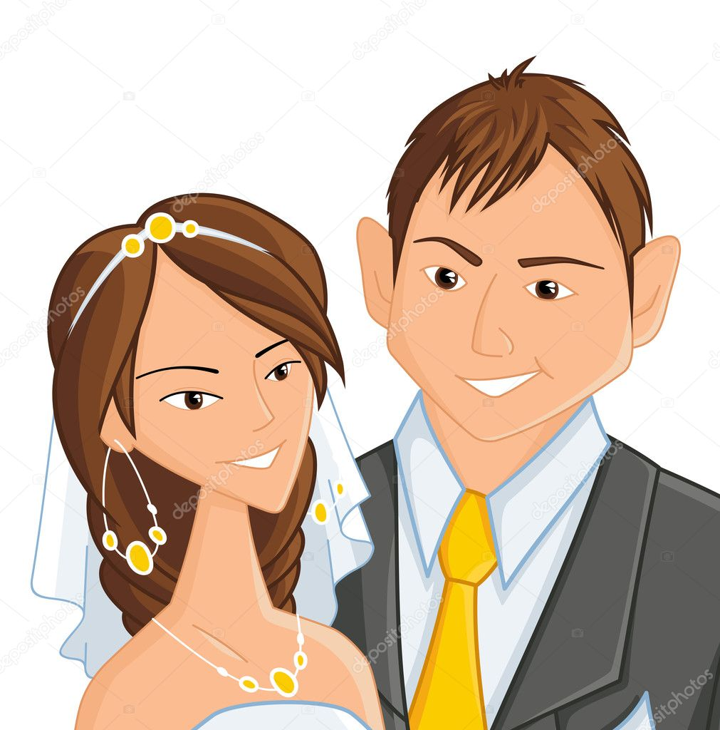 Wedding, vector illustration  Stock Vector #4726262