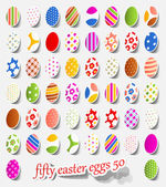 Fifty easter eggs — Stok Vektör