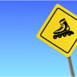 Royalty-Free Stock Vector Image: Traffic sign roller sky background vector format.