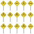 Royalty-Free Stock ベクターイメージ: Set of traffic signs vector format.