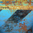 Rusty wall icons browser grunge. - Stockfoto