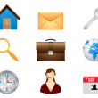 Set vector icons.Signs organized in layers for usability. — Stock Vector