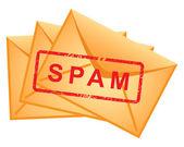 Simge zarflar yazıt spam vektör. — Stok Vektör