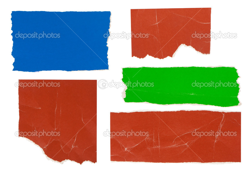 Strips and scraps of a paper for design of different color.  Stock Photo #5274328