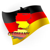 Germany map in the form of the German flag. Vector illustration — Stock Vector