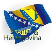 Cards Bosnia and Herzegovina.Vector illustration — Stock Vector
