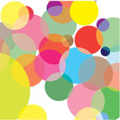 Abstraction from circles. Vector illustration — Stock Vector