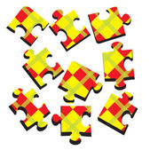 3-D a puzzle. Vector illustration — Stock Vector