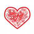 Royalty-Free Stock Imagen vectorial: Red heart.Vector illustration