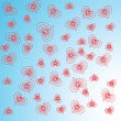 Abstract red hearts.Vector illustration — Stock Vector