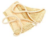 Naturliga textil bad svamp med rep handtag — Stockfoto