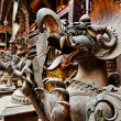 Fearful monster statue, Kathmandu, Nepal - Stock Photo