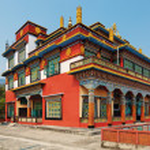 Ancient buddhistic temple architecture, Pokhara, Nepal — Stock Photo