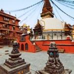 Ancient square, shrines and stupa architecture, Kathmandu, Nepal — Stock Photo #4349015