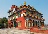 Ancient buddhistic temple architecture, Pokhara, Nepal — Stockfoto