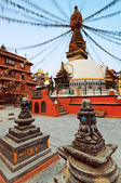 Ancient square, shrines and stupa architecture, Kathmandu, Nepal — Stock Photo