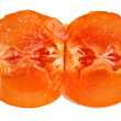 Royalty-Free Stock Photo: Cross-section of persimmon fruit isolated on white