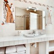 Part of modern bathroom interior with sink and mirror — Stock Photo #4582633
