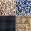 Collection of construction materials textures backgrounds — Stock Photo